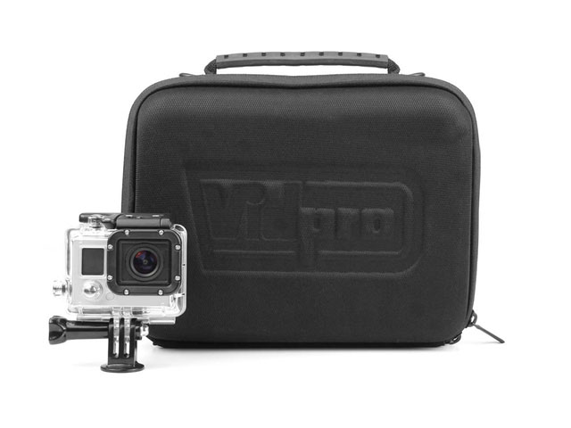 Vidpro gopro camera gear storage bag with High-Density Foam Padded Custom cut-out compartments Interior